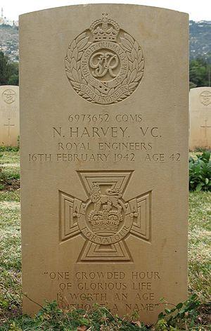 Norman Harvey - Harvey's grave in Khayat Beach cemetery, Haifa, Israel