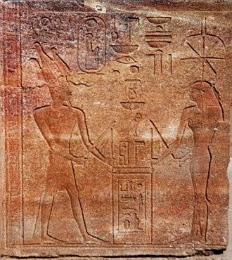 Seshat - Image: Hatshepsut and Seshat