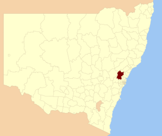 City of Hawkesbury - Location in New South Wales