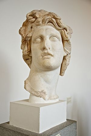Helios - Head of Helios, middle period, Archaeological Museum of Rhodes