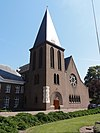 heeswijk abdij berne, rijksmonument 520574 abdijkerk schuin van voren