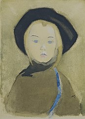 Girl with Blue Ribbon