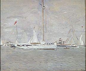 Le Yacht Nereus en rade de Cowes