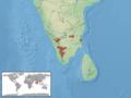 Hemiphyllodactylus aurantiacus distribution.png