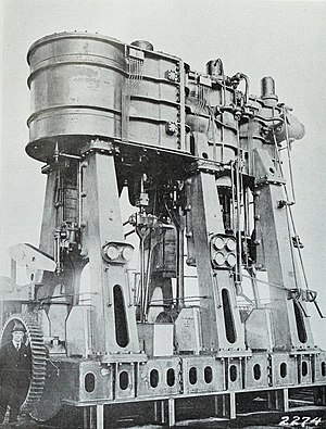 Joshua Hendy Iron Works - World War I Hendy marine engine