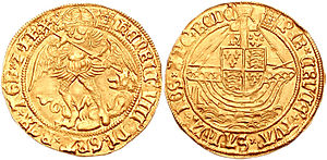 Angel (coin) - Image: Henry VIII Angel 2