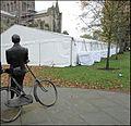 Hereford ... Sir Edward Elgar has cycled over from Broadheath to visit the food fair. - Flickr - BazzaDaRambler.jpg