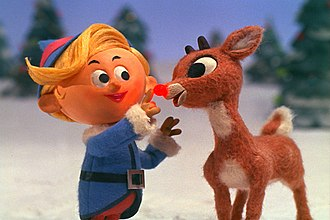 Rudolph the Red-Nosed Reindeer - Young Rudolph (right) and Hermey the Elf as seen in the 1964 TV special.