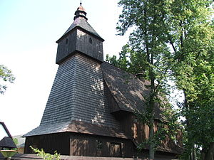 Roman-Catholic wooden church in Hervartov