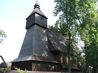 Wooden churches of the Slovak Carpathians - Roman-Catholic wooden church in Hervartov