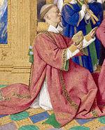 Heures d'Etienne Chevalier - Chevalier et saint Etienne - fragment.JPG