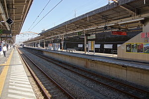 Higashi-Tokorozawa Station - Image: Higashi Tokorozawa Station platforms 3 4 west 20121026