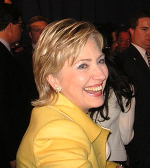 Hilary Clinton in the night of the midterm ele...