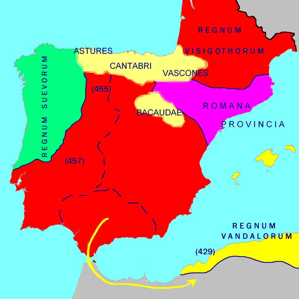 Hispania 476 AD