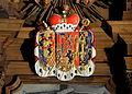 Hoch-Elten, Sint-Vituskerk - wapenschild op het hoogaltaar.jpg