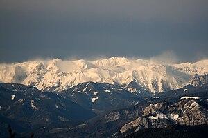 Hochschwab Mountains - The Hochschwab range from the Schöckl