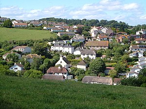 Holcombe, Teignbridge - Holcombe village, seen from the south.
