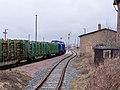 Holzzug im Bahnhof Ohrdruf, Februar 2012.JPG