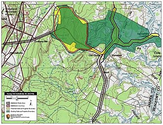 Battle of Honey Hill - Map of Honey Hill Battlefield core and study areas by the American Battlefield Protection Program.