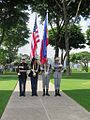 Honor guard at Manila American Cemetery.JPG