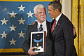 Honoring an uncle - Ray Kapaun and Obama.jpg