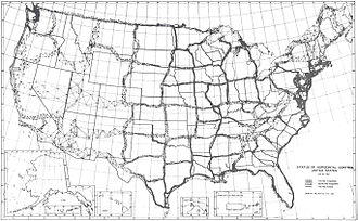 Meades Ranch Triangulation Station - Horizontal survey control network in the United States in 1931