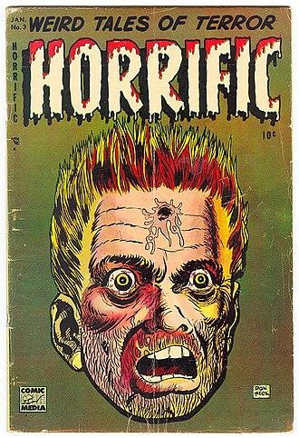 Comic Media - Cover of Horrific 3 (January 1953). Art by Don Heck