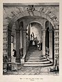 Hospice de la Charité, Rheims, France; staircase. Lithograph Wellcome V0014400.jpg