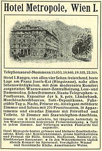 Hotel Metropole Wien