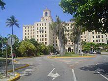 Entrada del Hotel Nacional de Cuba