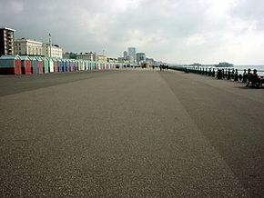 Hove promenade facing towards Brighton