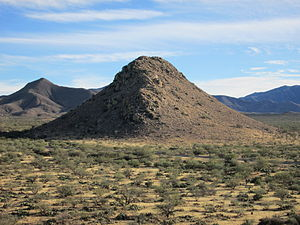 Huerfano Butte (Arizona) - Huerfano Butte from the northwest.