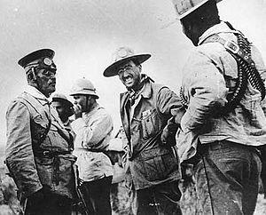 Emilio Madero - Madero in 1912.  Left to right: Victoriano Huerta, Emilio Madero, and Pancho Villa.