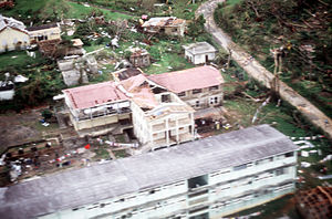Hurricane Gilbert - Buildings destroyed after Hurricane Gilbert
