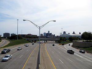 Interstate 75 in Michigan - Image: I 75 Chrysler Freeway looking south