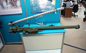 9K38 Igla - 9K338 Igla-S (SA-24) missile and launch tube.