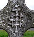 IHS symbolism on gravestone, St Columba's, Stewarton, East Ayrshire, Scotland.jpg