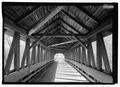 INTERIOR VIEW, LOOKING WEST. - Kenyon Bridge, Spanning Mill Brook, Town House Road, Cornish City, Sullivan County, NH HAER NH-40-5.tif