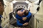 ISS-54 Alexander Misurkin welcomes Scott Tingle.jpg