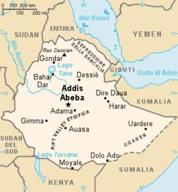 Etiopia - Mappa