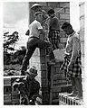 IVS Volunteer Frank Bewetz Assists with Building a School in Kengkok, Laos, 1966 (13875617483).jpg