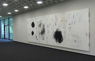 Ian McKeever (artist) - McKeever, Marianne North at the Josef Albers Museum, Bottrop, 2012