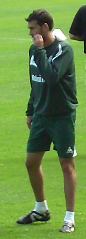 Ian Murray (footballer) - Murray training at an open session staged at Easter Road, August 2009.
