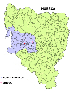 Location in Huesca (province), Spain
