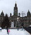 Ice rink in George Square - geograph.org.uk - 1057210.jpg