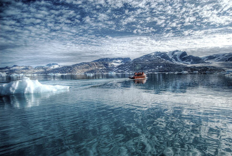Icy lagoon in Eastern Greenland