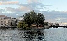 Île Rousseau, Geneva (Source: Wikimedia)