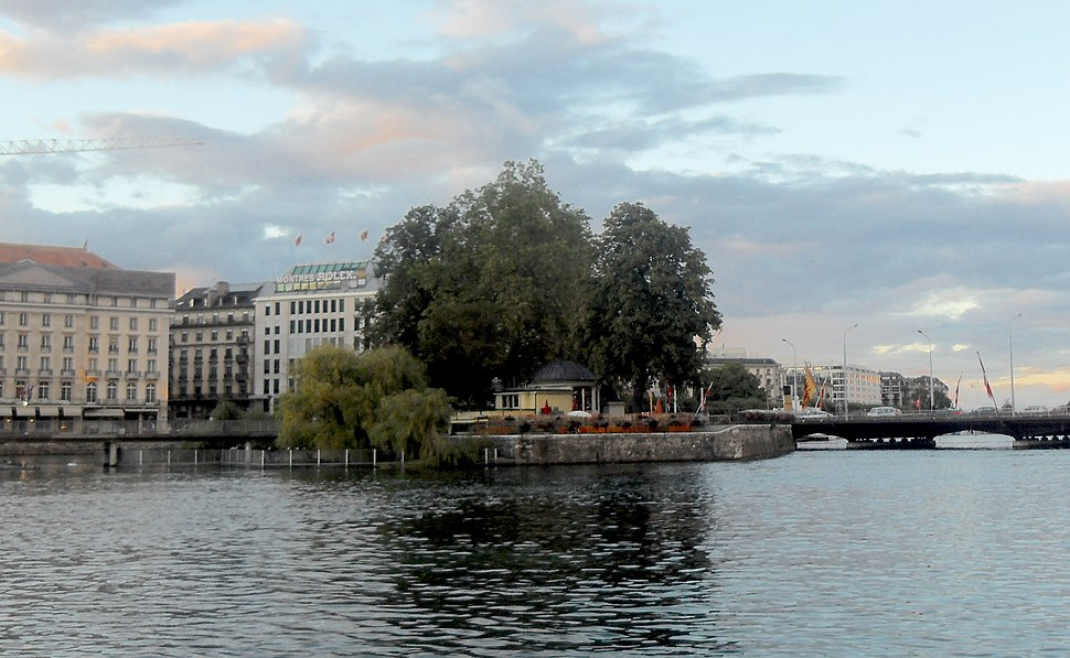Ile Rousseau Geneva Switzerland