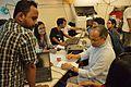 Imdadul Haq Milon at Wikipedia Booth - Apeejay Bangla Sahitya Utsav - Kolkata 2015-10-10 5221.JPG