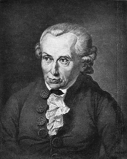 Immanuel Kant is regarded as one of the most influential thinkers of the late Enlightenment. Immanuel Kant (portrait).jpg